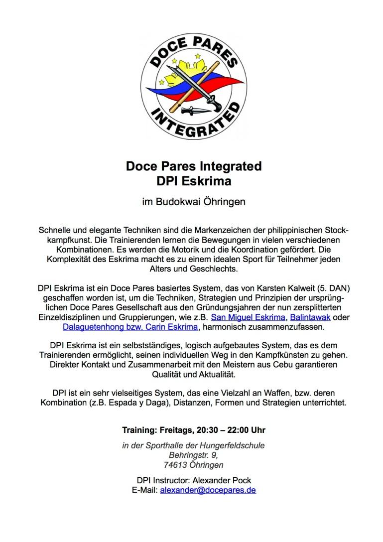 2014-09-29 DPI Eskrima Budokwai Öhringen